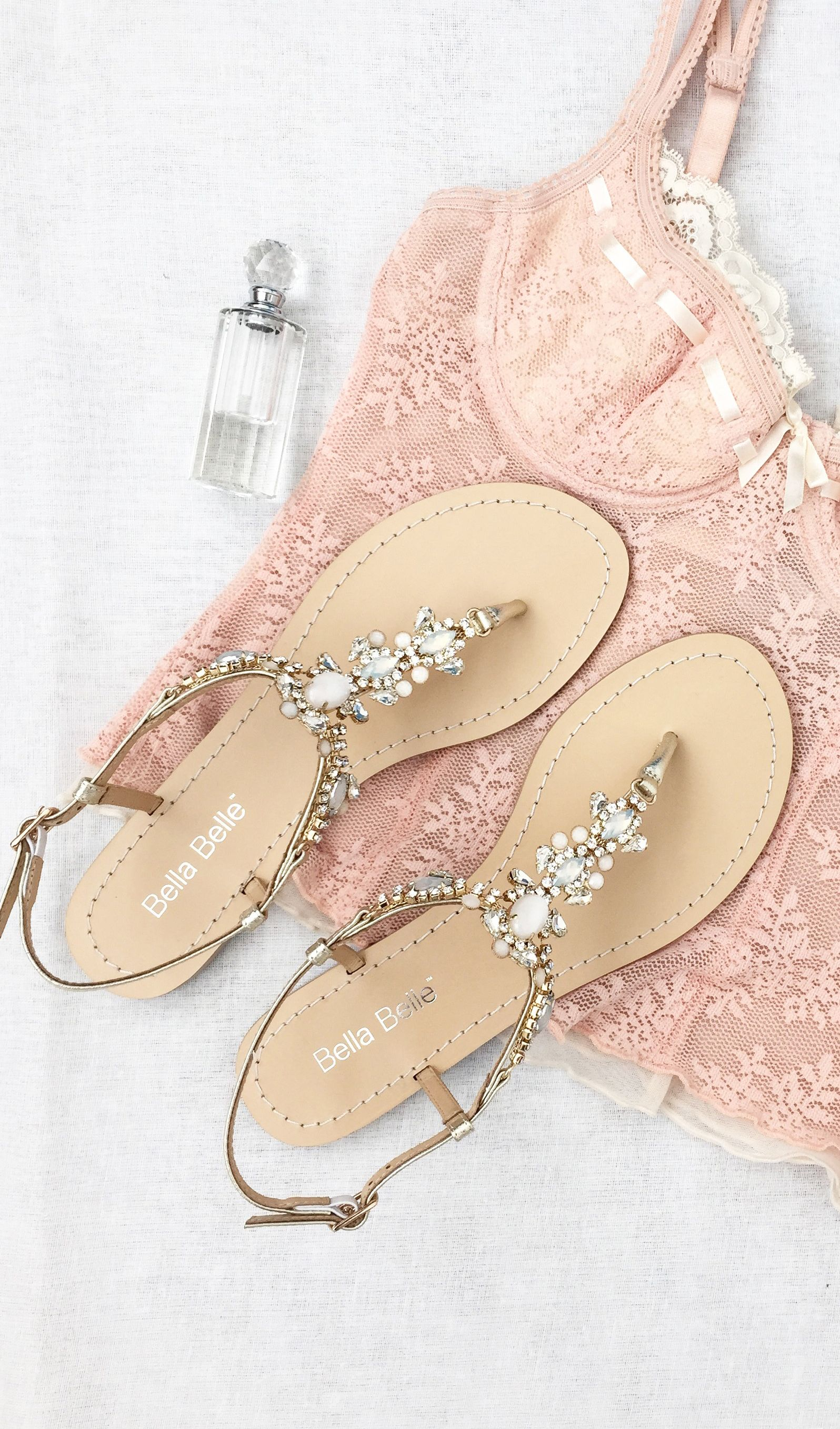 wedding sandals Bella Belle Destination Beach Wedding Sandals with Jewels