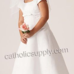 Mallory First Communion Dress Delicately Embellished Bodice With
