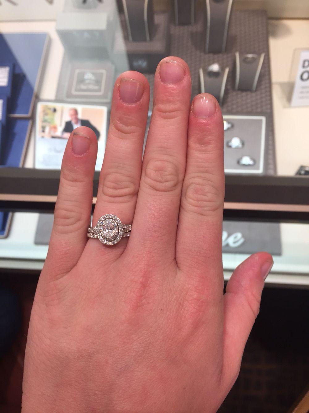 neil lane wedding rings Neil Lane 1ct double halo oval engagement ring