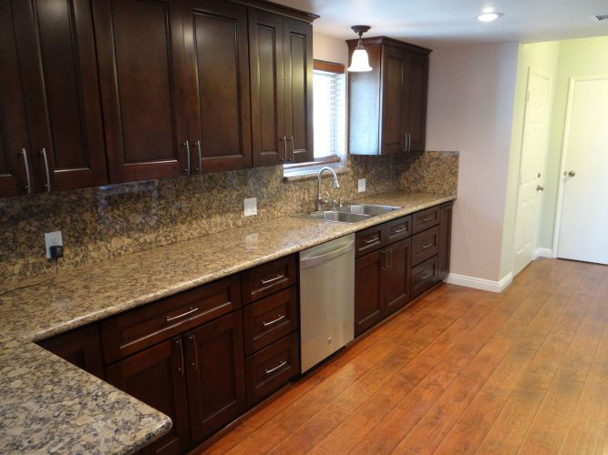 poplar kitchen cabinets brown kitchen cabinets Espresso Wood Stain On Poplar Tags Stained Oak