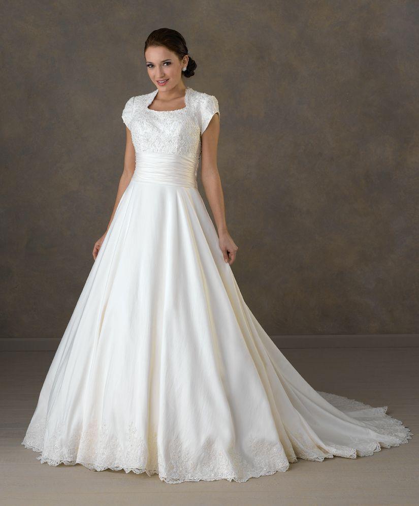 conservative wedding dress New Modest White Ivory Bridal Wedding Dress Ball Gown Custom Size 6 8 10 12 14