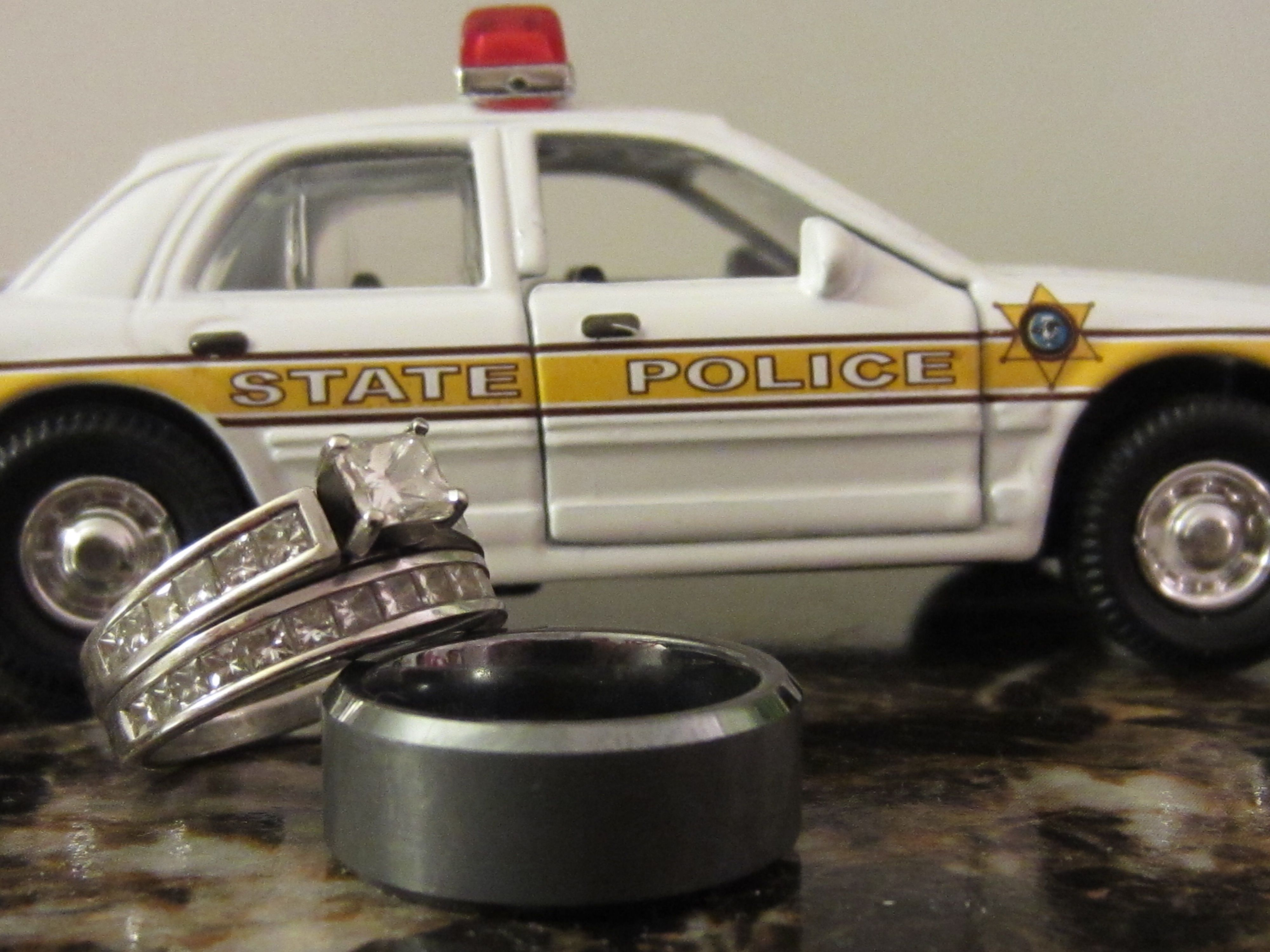 police wedding bands State Police wedding rings