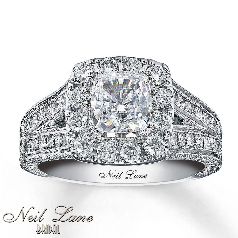 kay jewelers wedding bands neil lane engagement rings Kay Neil Lane Engagement Ring 2 ct tw Diamonds 14K
