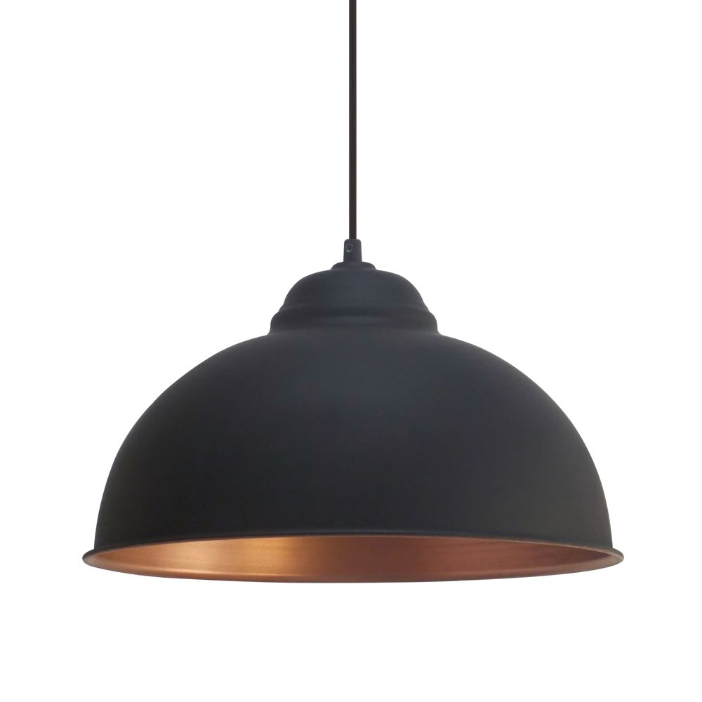 copper pendant light kitchen Eglo Vintage Black and Copper Pendant Breakfast Bar Lights Kitchen