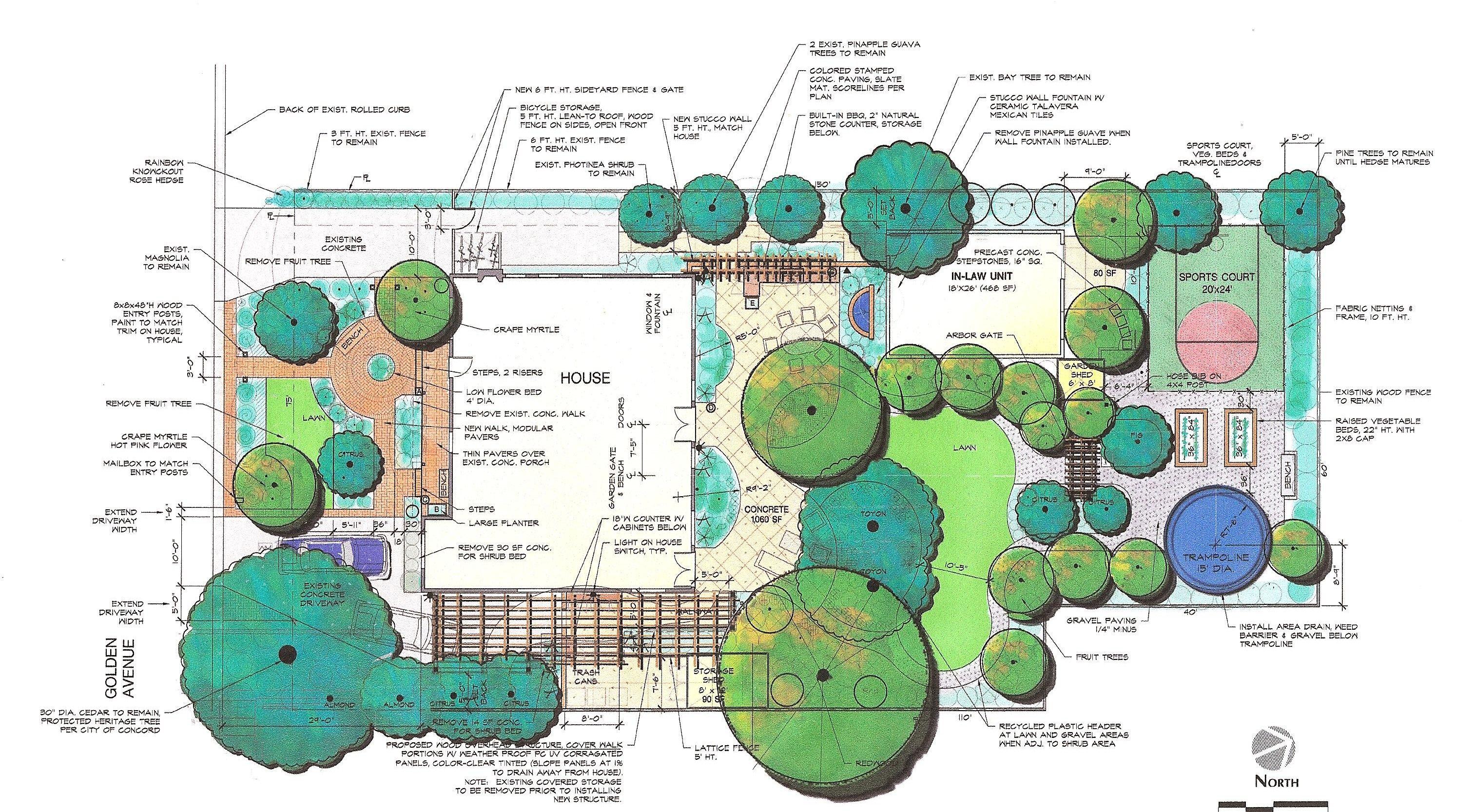 Fullsize Of Landscape Design Plan