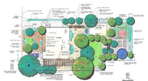 Medium Of Landscape Design Plan