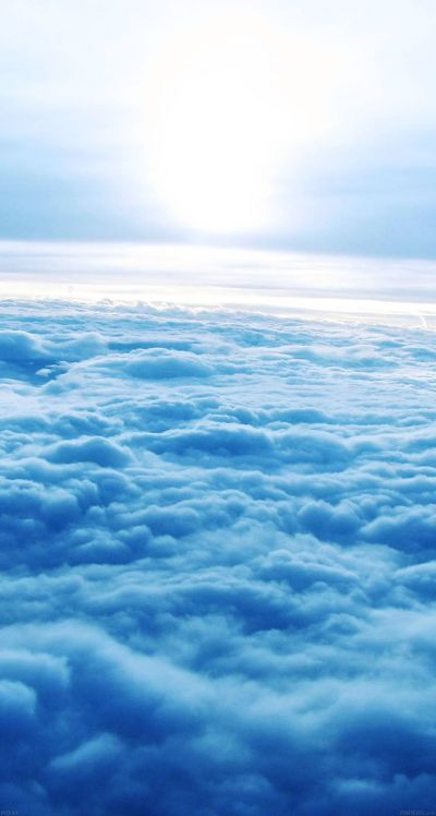 #Blue #clouds - The iPhone iOS7 Retina #Wallpaper I like! | iOS 7 Wallpapers | Pinterest | 7 ...