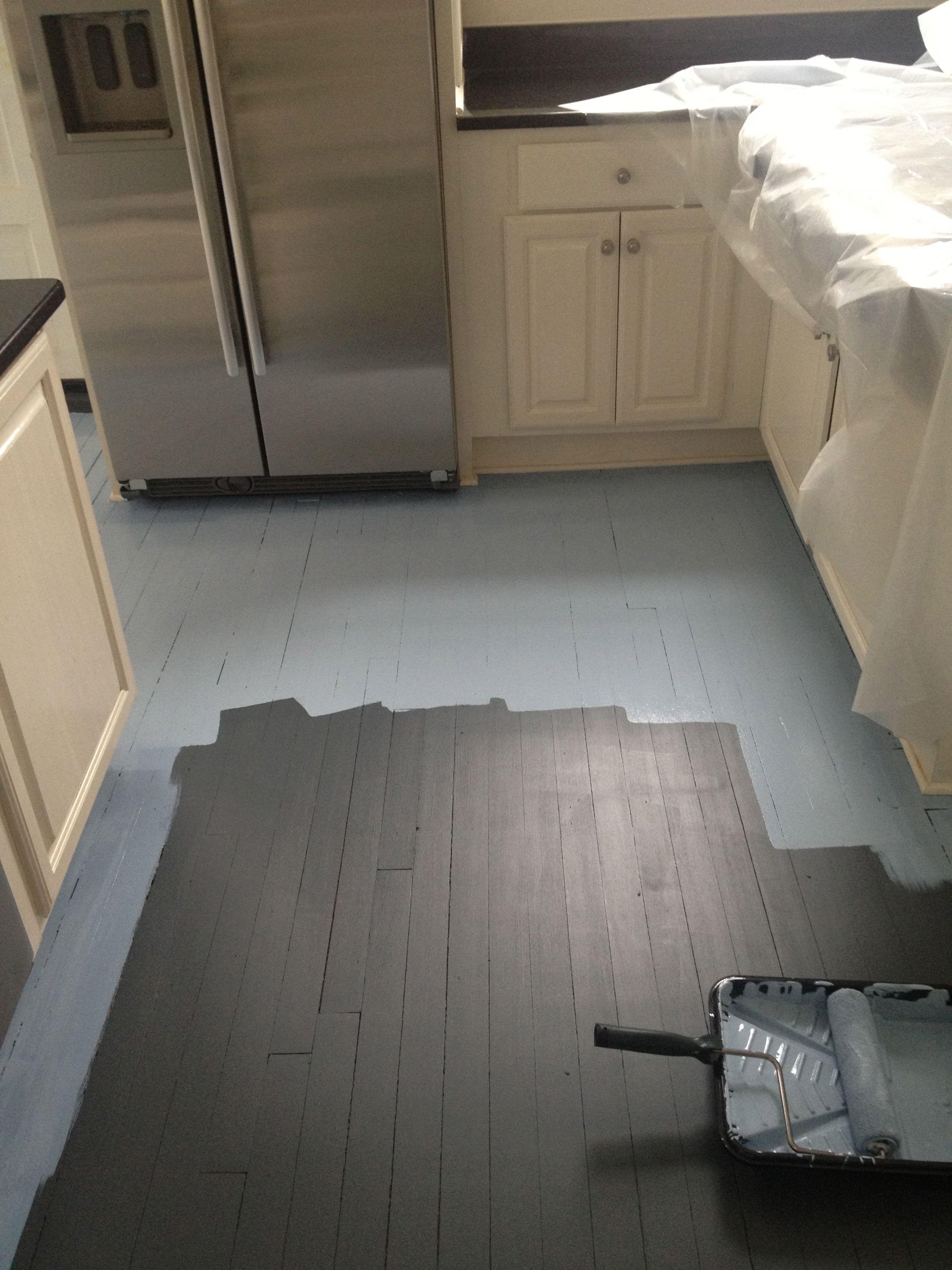 hardwood floor in kitchen DIY How to Paint Wood Floors White Revisited DIY furniture Pinterest Hardwood floors My love and Paint wood floors
