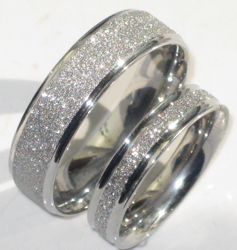 male wedding rings Mens or Womens Sparkleblast 6mm 4mm Sparkle Wedding Ring Band