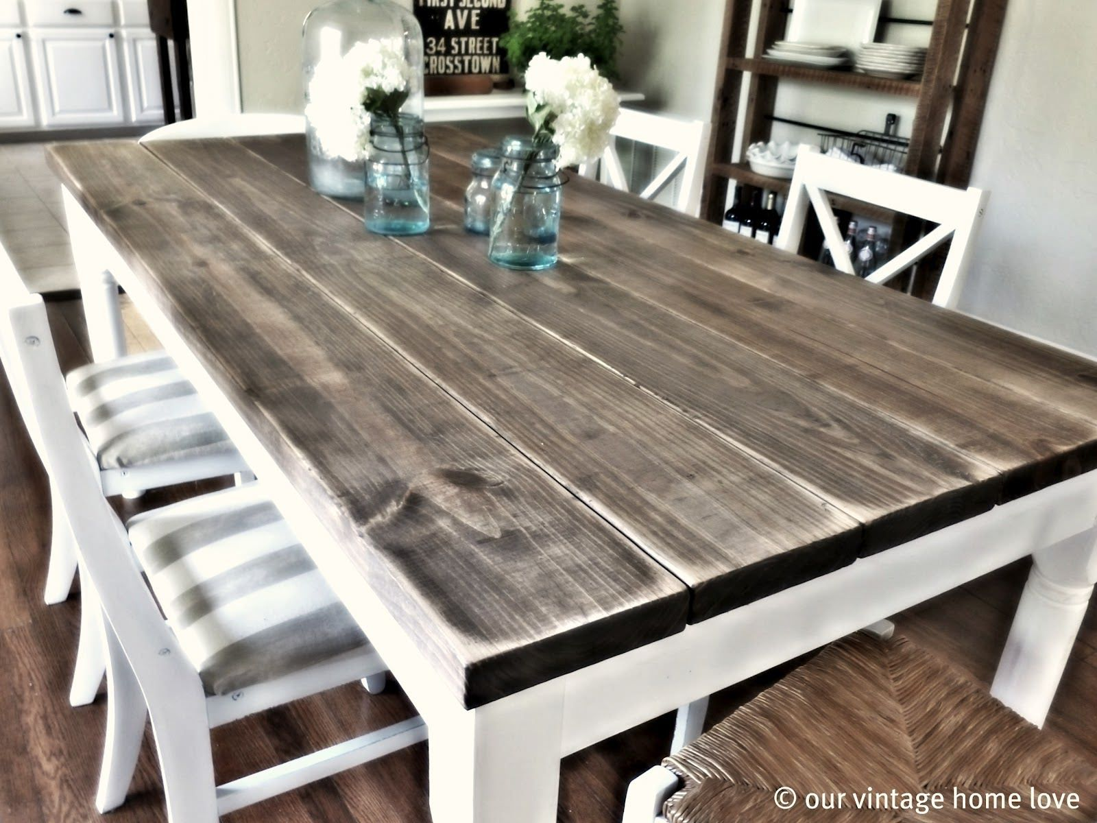 white wash table whitewash kitchen table Like the colors of this table for our farmhouse table white on bottom washed