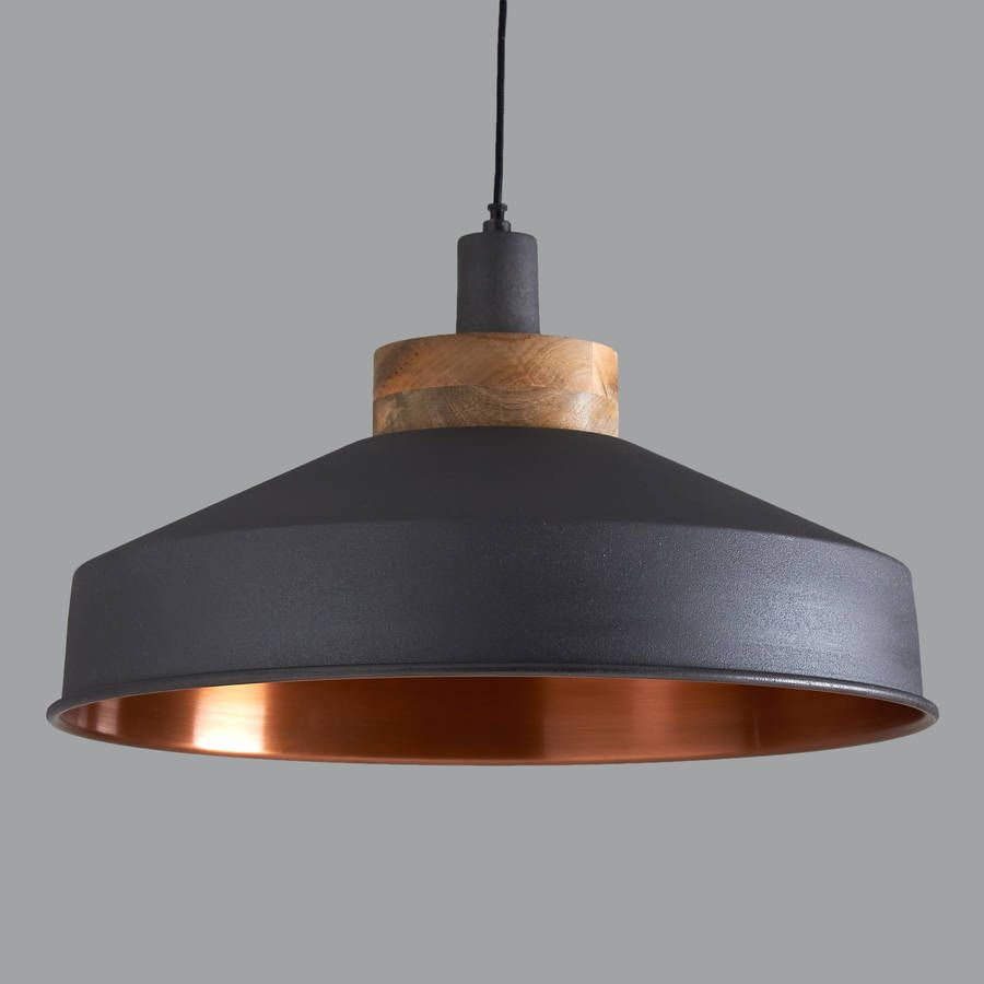 copper pendant light kitchen Cosmos Graphite And Copper Pendant Light