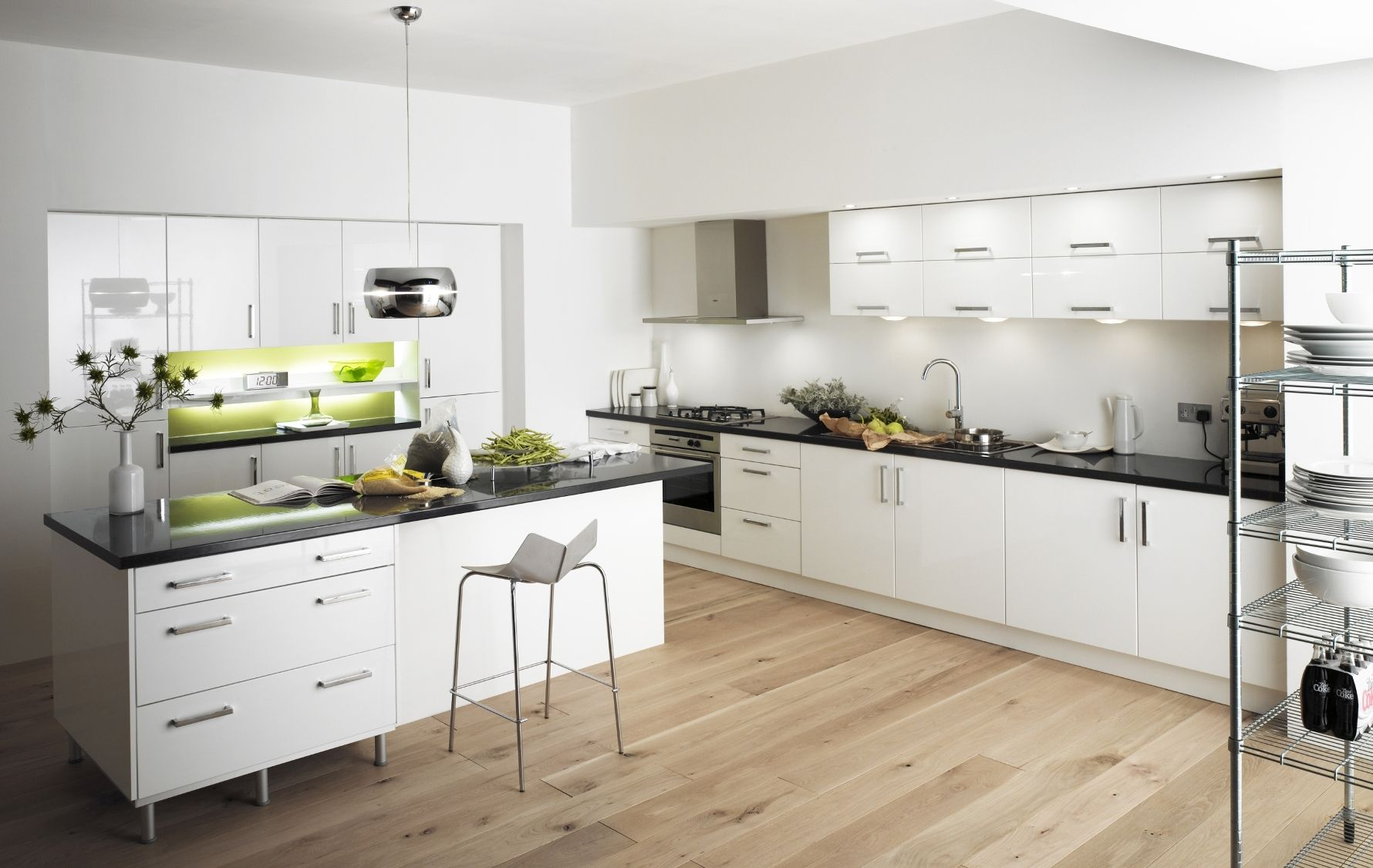 small kitchen white cabinets 30 Contemporary White Kitchens Ideas