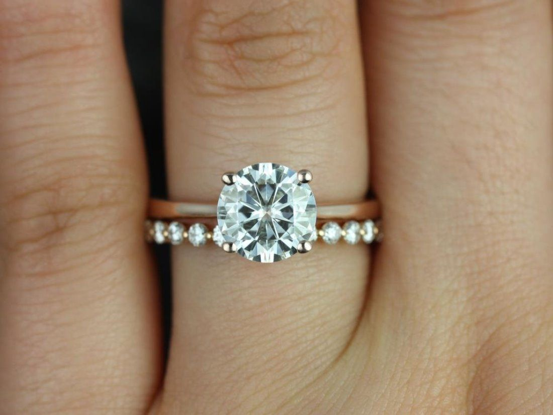 mismatched wedding bands wedding engagement rings 13 Etsy Boutiques to Shop Gorgeous Engagement Rings