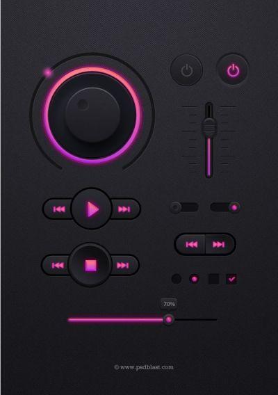 Dark UI design PSD | Ui Elements | Pinterest | Ui design, Dark and Ui kit
