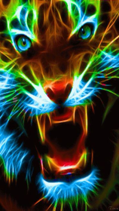 NEON BIG CAT IPHONE WALLPAPER BACKGROUND | IPHONE WALLPAPER / BACKGROUNDS | Pinterest ...