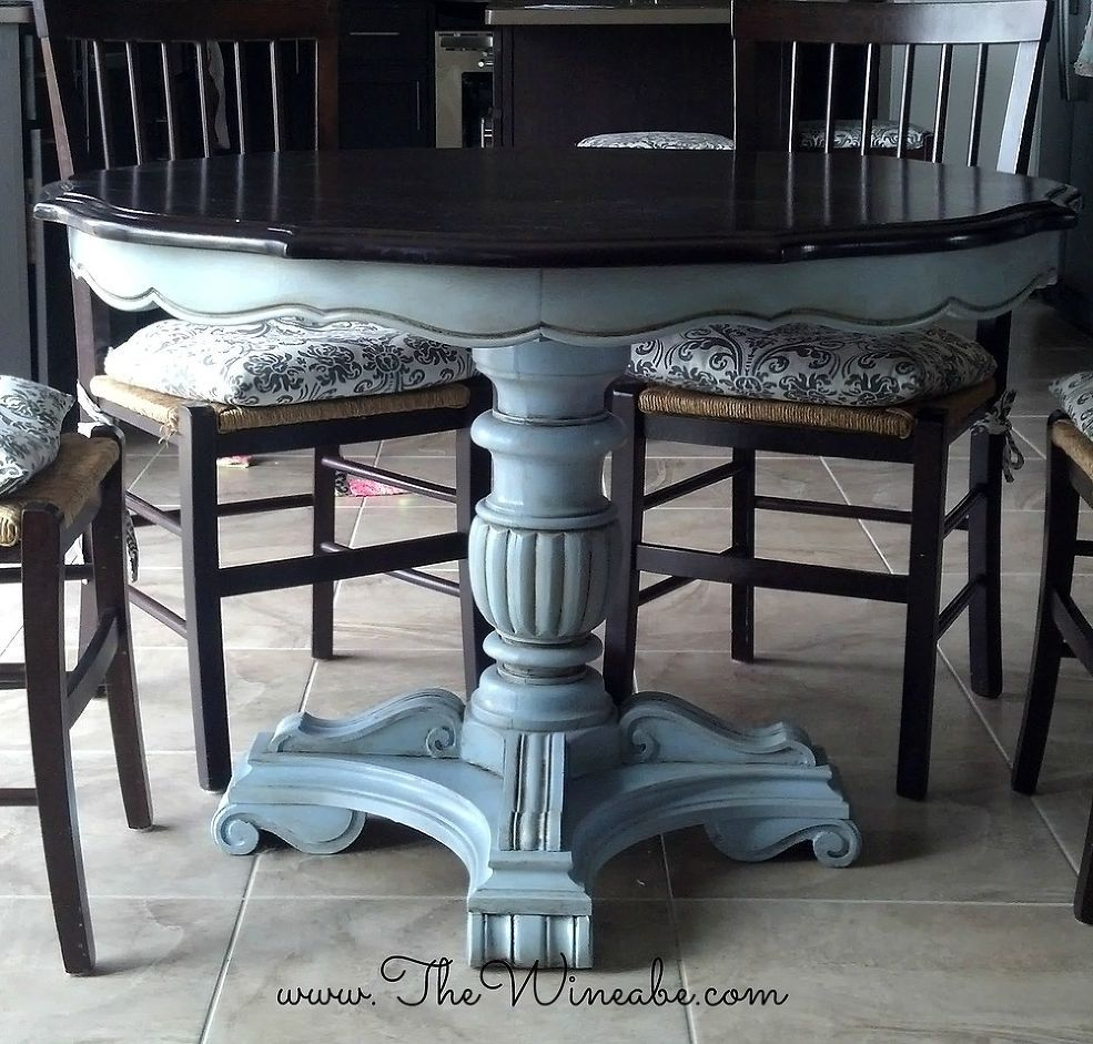 painted kitchen tables Refurbished Craisglist Kitchen Table With Annie Sloan Chalk Paint