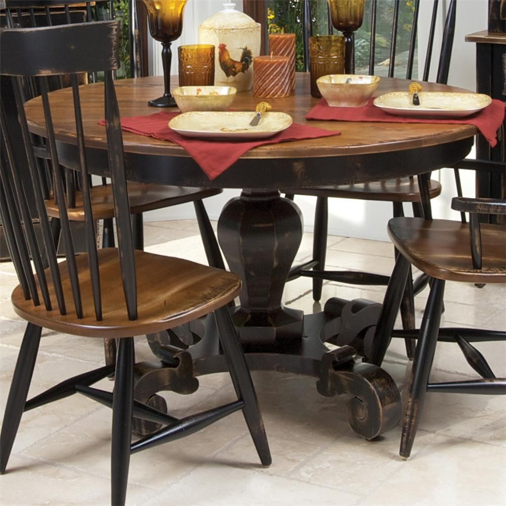 custom kitchen tables Customizable Round Dining Table by Canadel Two tone with fun details on the legs