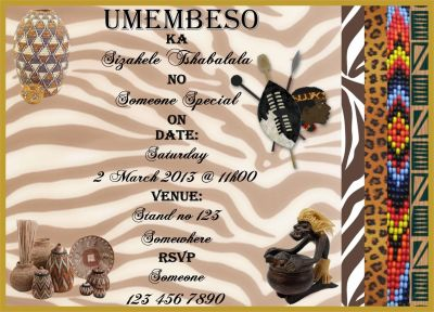 Umembeso Invites | Zulu | Pinterest | Traditional wedding ...