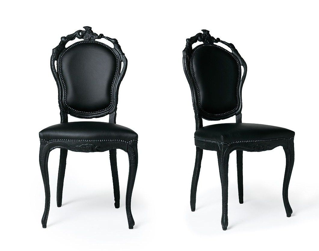 black kitchen chairs Contemporary Dining Chairs In Black Design Inspiration Elegant French Italian Painted Black Dining Chair with Black Leather Chair and Black Carving Wood