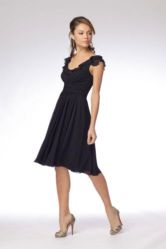 black wedding dresses black knee length bridesmaid dresses