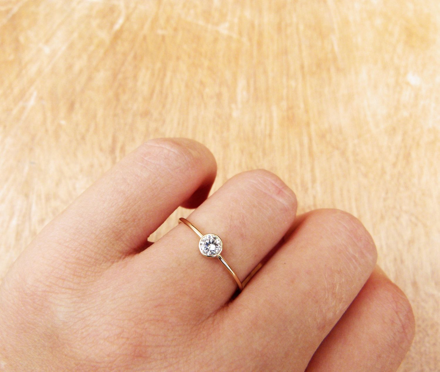 simple wedding ring Delicate Engagement Ring Simple Engagement Ring 0 2 Carat Diamond Minimalist Diamond Ring Round Cut Diamond Ring