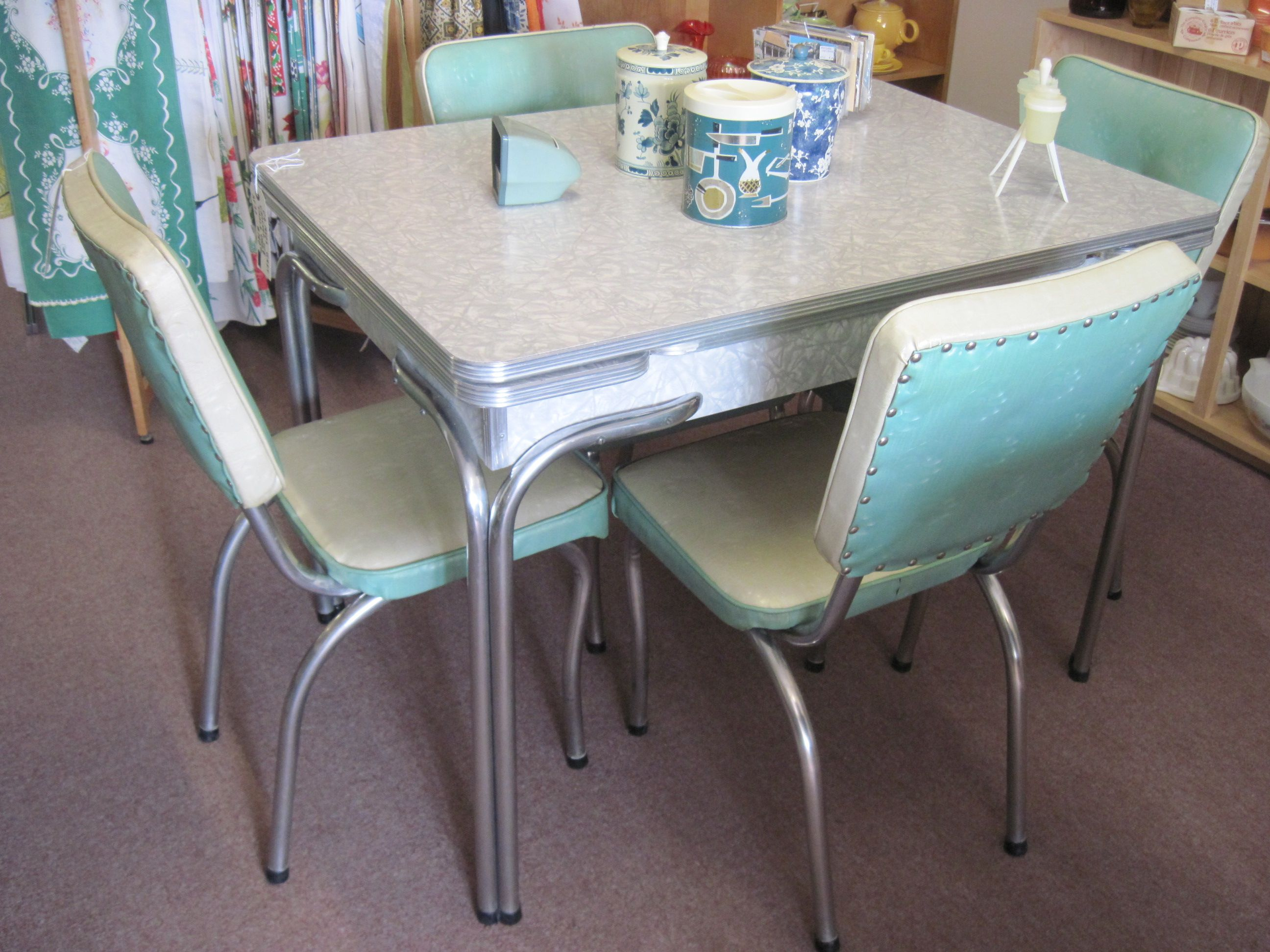 kitchen tables retro kitchen table sets Retro Dinette Sets Retro Dinette Sets For4 Blue Decoration Inspiration