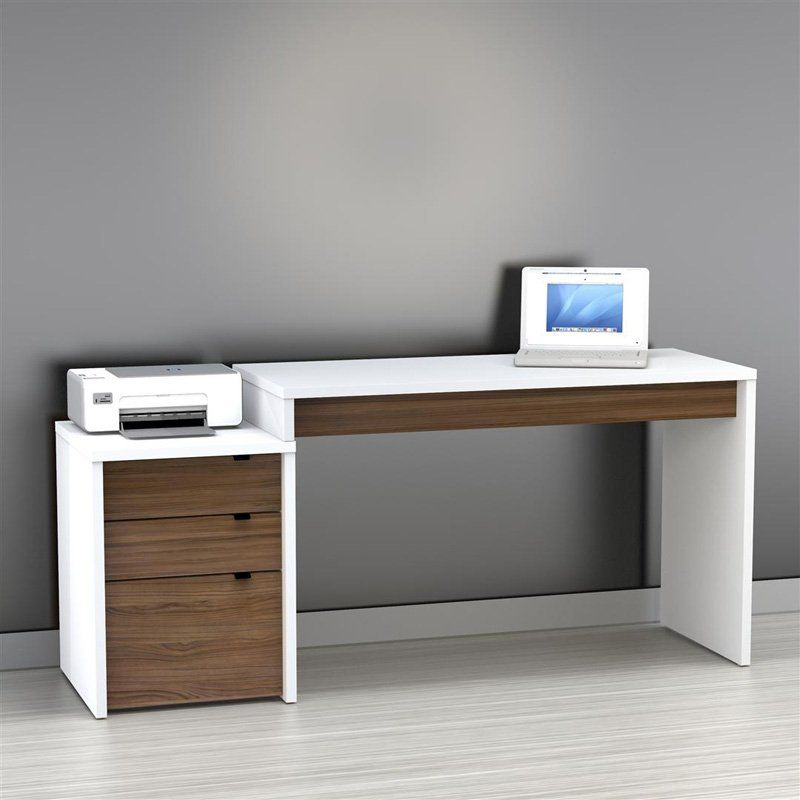 nexera libert computer desk with filing cabinet white office wood