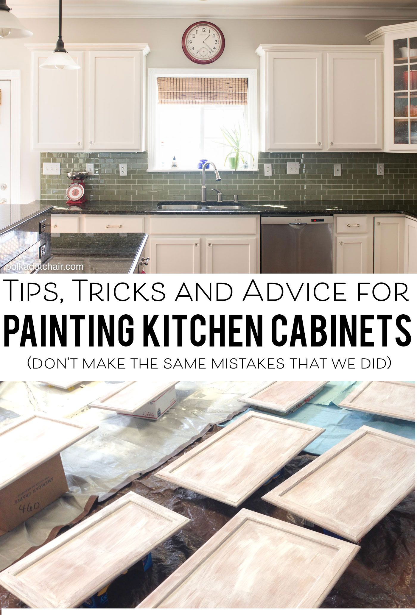 paint kitchen cabinets white Tips for Painting Kitchen Cabinets