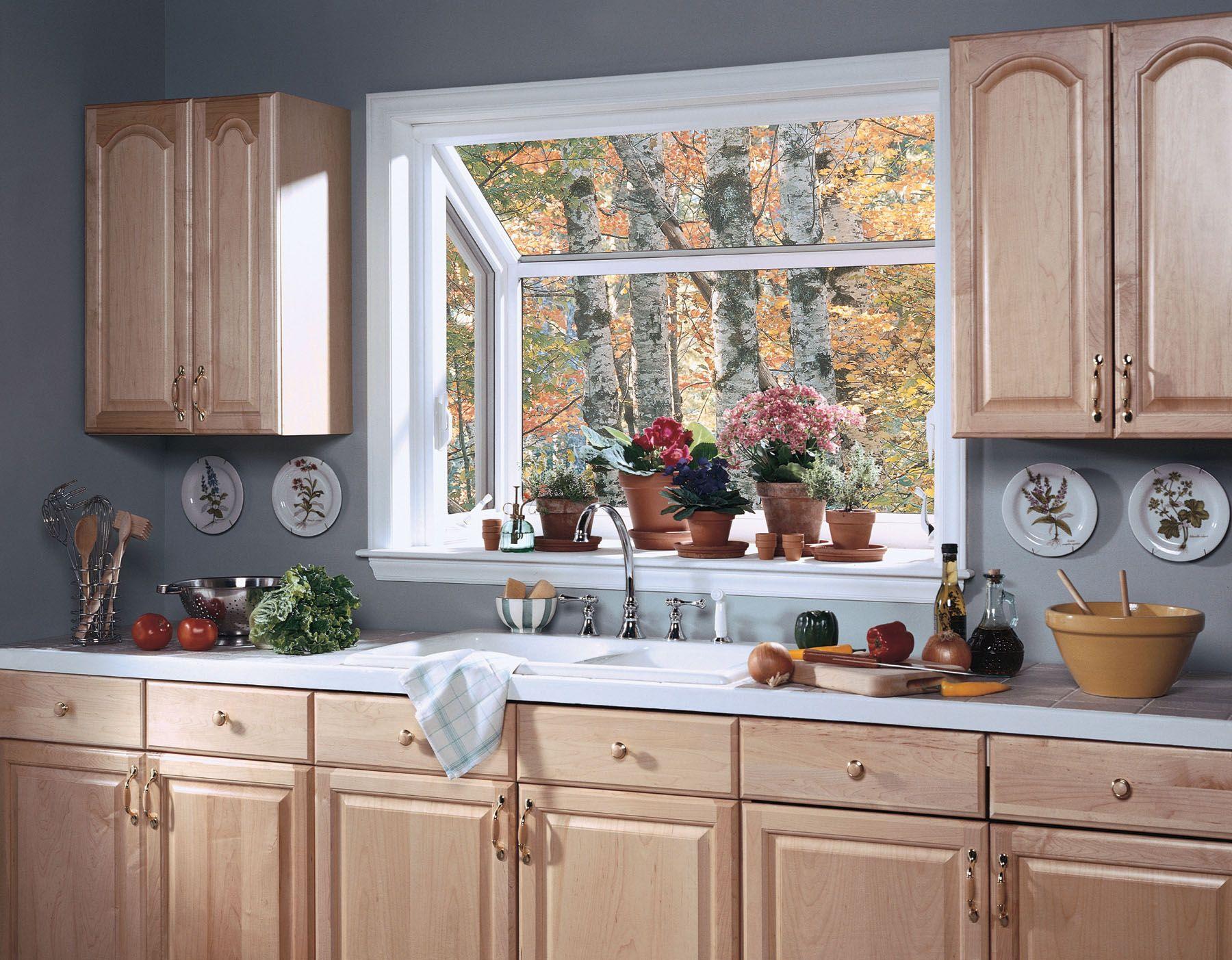garden windows kitchen window ideas Upgrade the kitchen sink window with a garden greehouse window