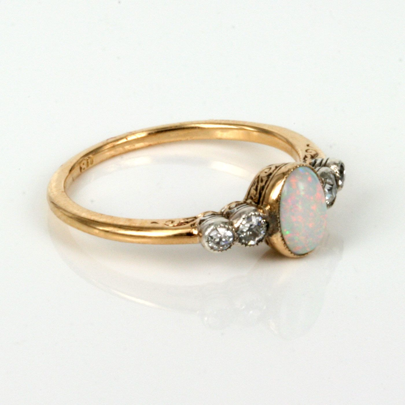 opal wedding rings Opal Engagement Rings Buy Art Deco opal diamond ring made in the s