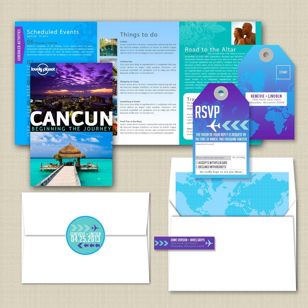 destination wedding invitations Destination Wedding Invitation 00 via Etsy