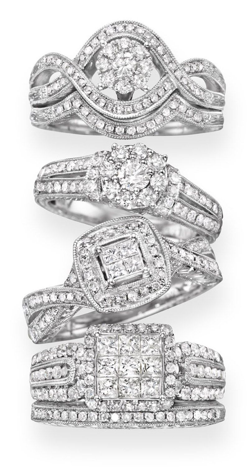 jcpenney wedding ring sets cherished hearts vintage inspired wedding rings from JCPenney