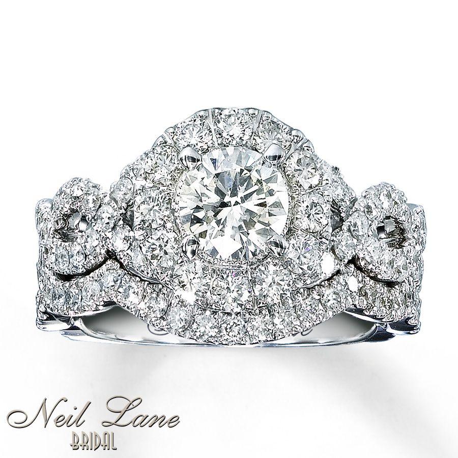 kay wedding rings sets Kay Diamond Bridal Set 2 ct tw Round cut 14K White Gold Gorgeous