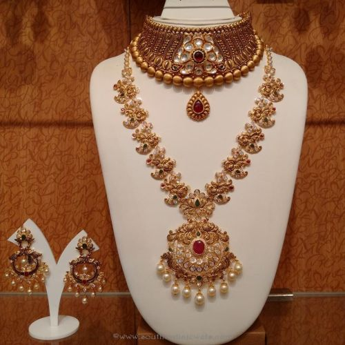 wedding jewelry sets Gold Antique Bridal Jewellery Sets from NAJ
