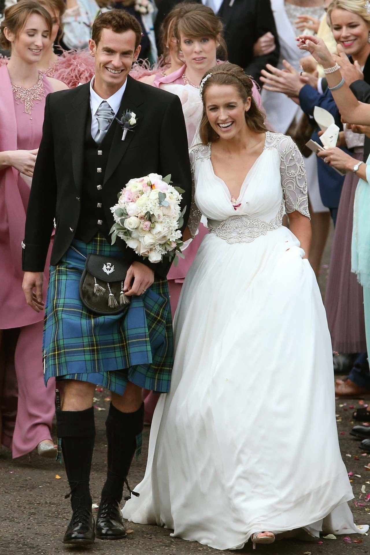 sears wedding bands Andy Murray Kim Sears Wedding Latest BridesMagazine co uk