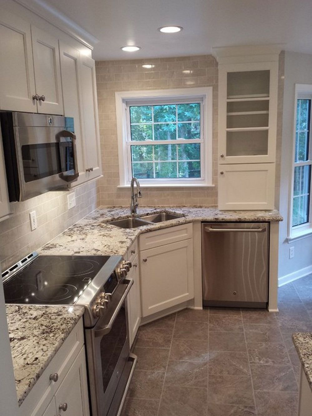 sink kitchen cabinets 40 Little Kitchens That Will Change Everything You Know About Small Spaces Basin sink Stove and Kitchen sinks