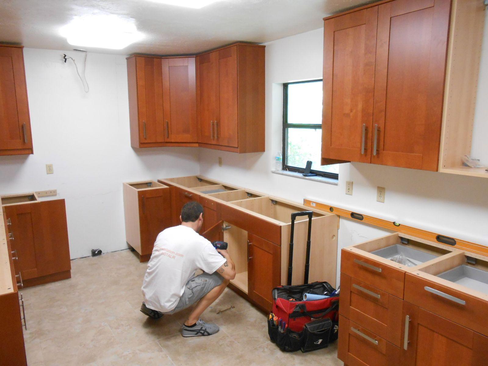 installing ikea kitchen cabinets hanging kitchen cabinets