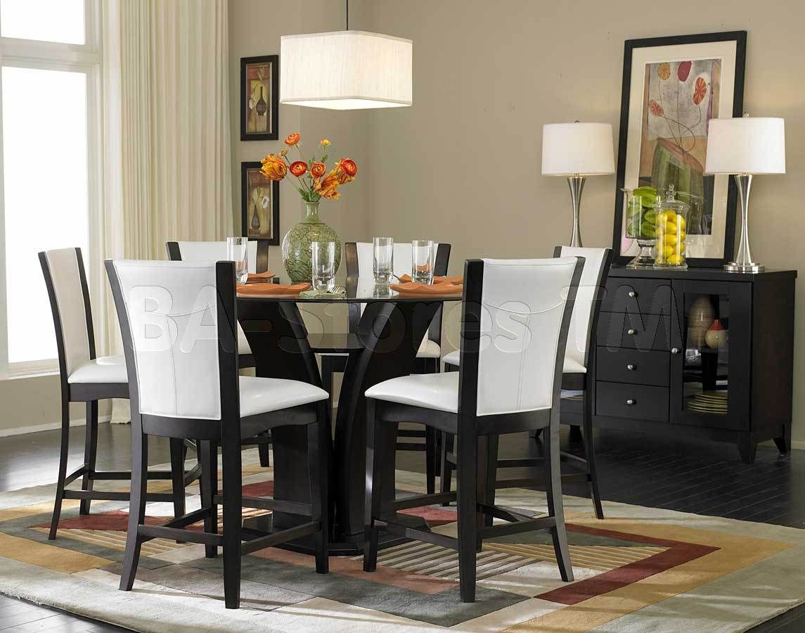 pub tables counter height kitchen tables Daisy 7 PC Round Counter Height Set Table and 6 Chairs