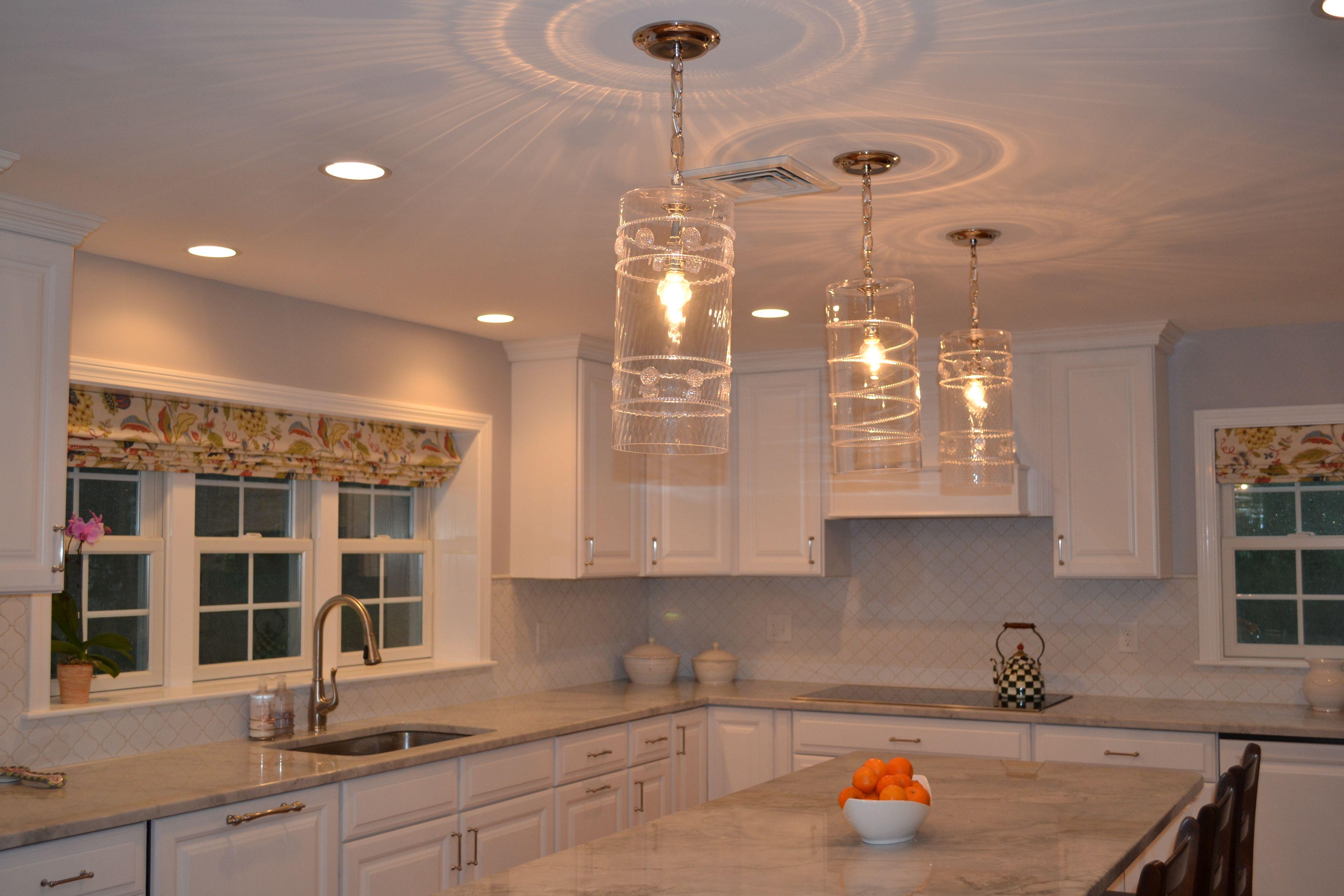 kitchen lights over table Juliska pendant lights over island