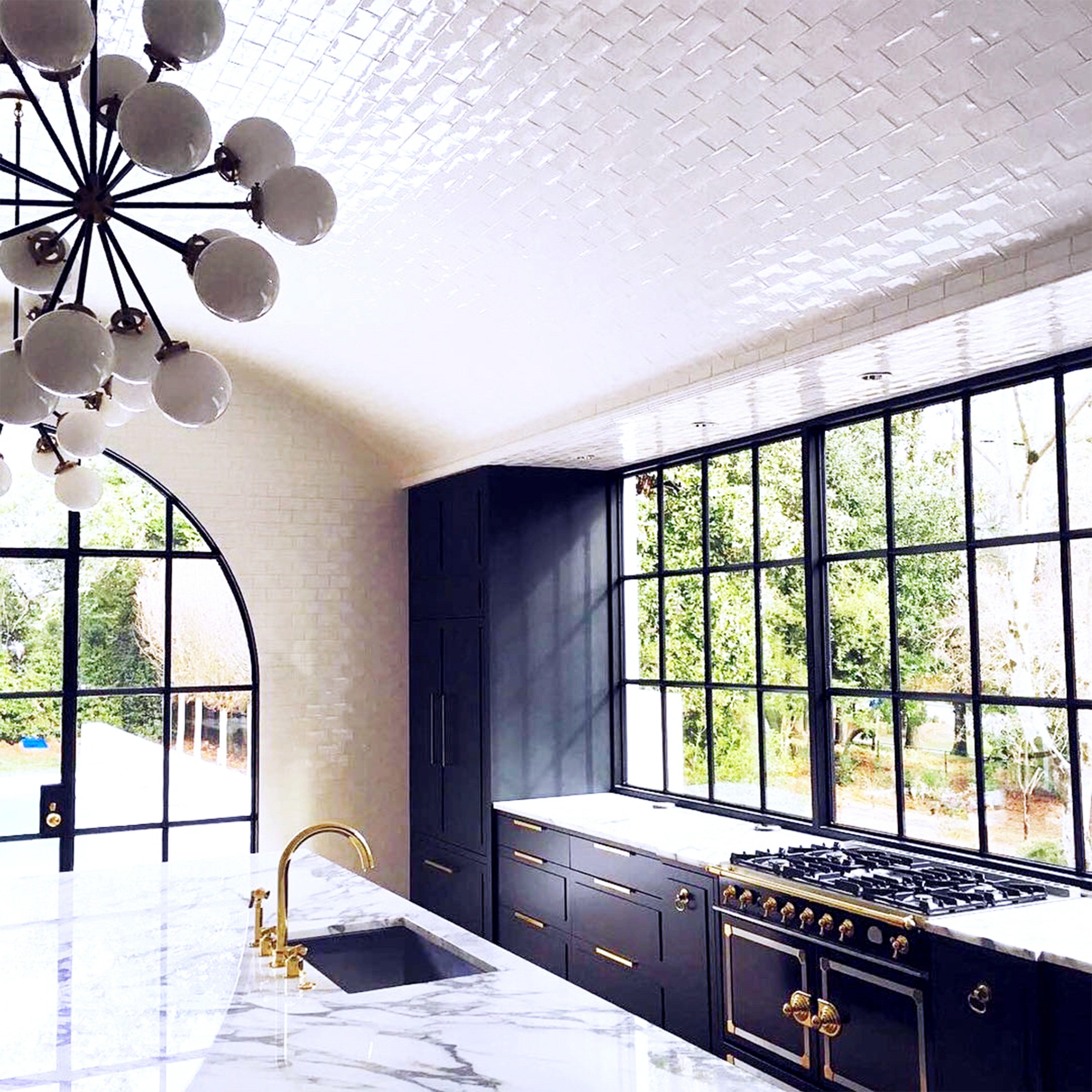 kitchen remodeling atlanta ga Arched Ceiling Tile Kitchen Remodel