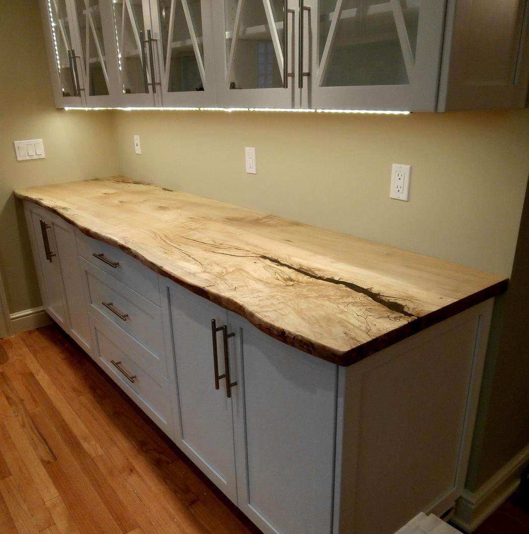slab countertop wooden kitchen countertops Diy Reclaimed Wood Countertop Pinterest Countertops The O