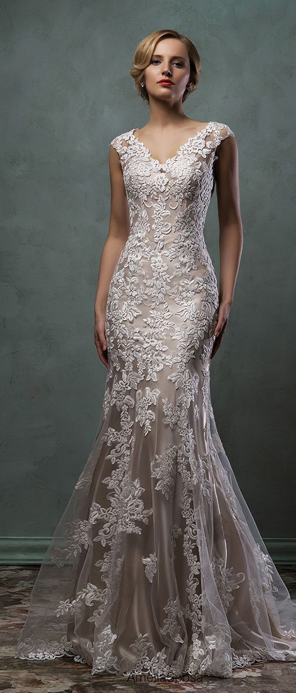 wedding dresses amelia sposa champagne underly lace wedding dress alba