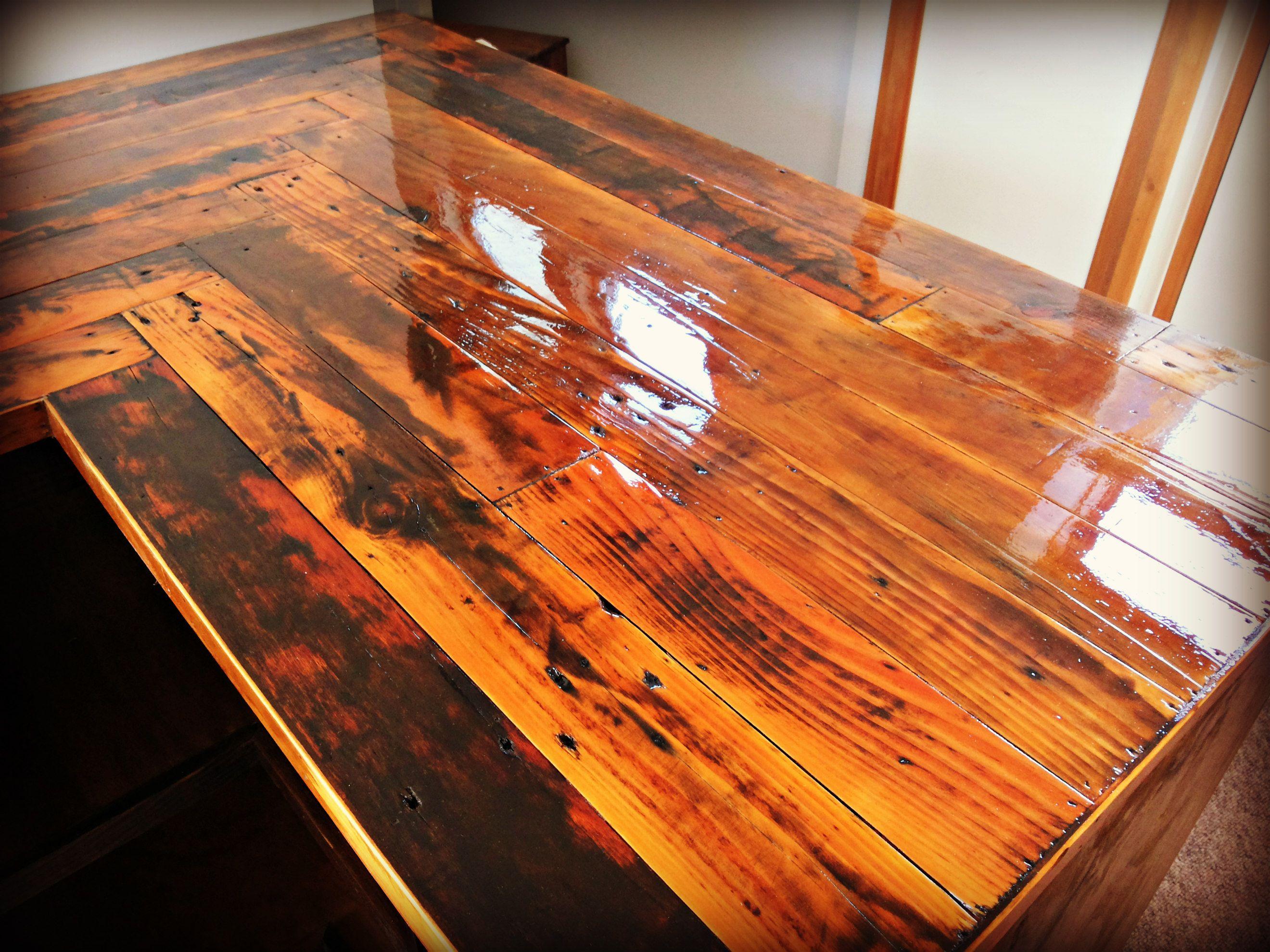 pallet countertop wooden kitchen countertops Kitchen Countertop made with reclaimed pallet wood cabinets