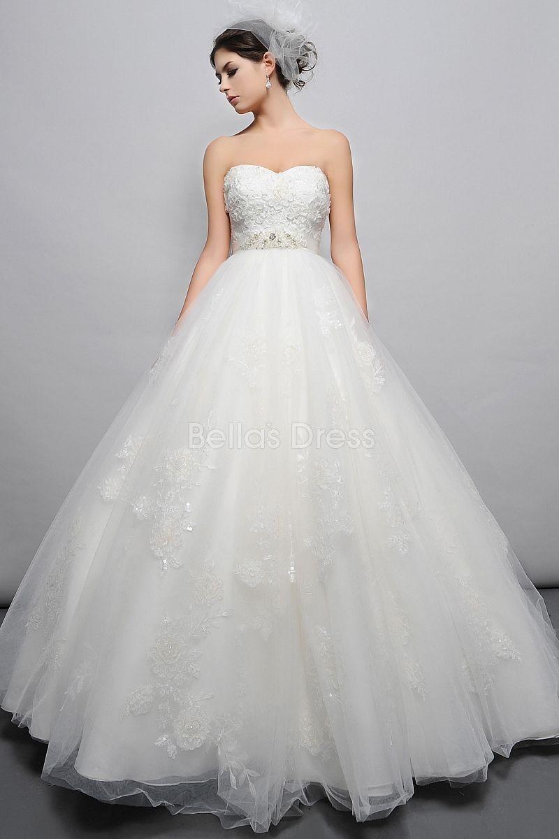 empire wedding dress Dramatic Floor Length Tulle Ball Gown Sweetheart Empire Waist Wedding Dress Wedding Pinterest Wedding Gowns and Empire wedding dresses