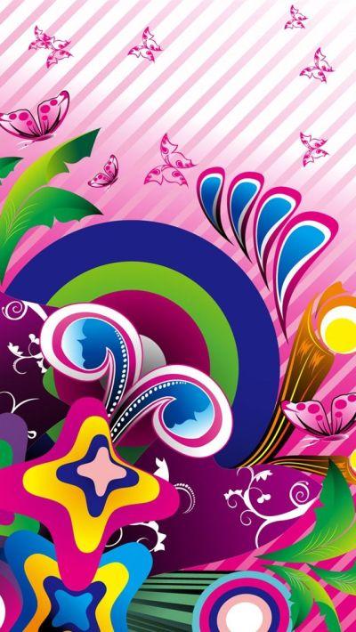 Purple-butterfly-vector_640x1136_iPhone_5_wallpaper.jpg (640×1136) | BUTTERFLIES WALLPAPER ...