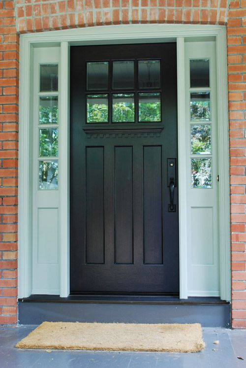 clopay craftsman collection fiberglass front door factorypainted in white with clarion windows sidelighu2026 pinteresu2026 entry doors