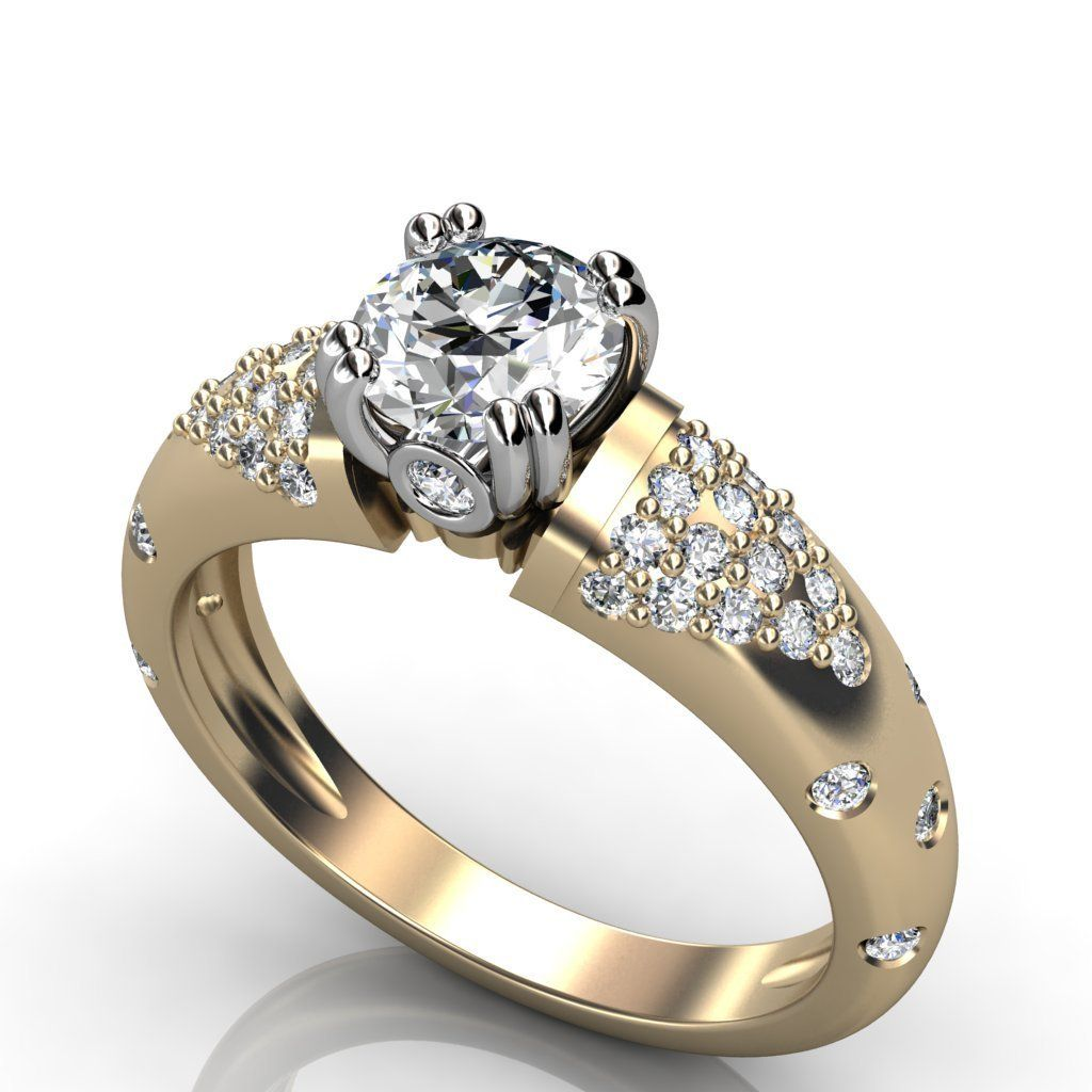 low cost wedding rings Expensive Look Cheap Diamond Wedding Bands For Women Golden Color Platinum Round Shape Gems Stone Real Carat Icon Great Accessories