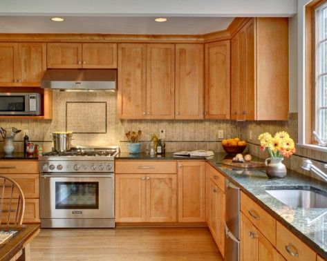 Maple Cabinets Kitchen Wall Color Match For Inside Inspiration