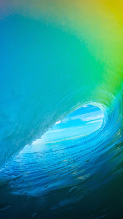 iOS 9 Colorful Surf Wave iPhone 6+ HD Wallpaper   iPhone Wallpapers   Pinterest   Surf wave, Hd ...