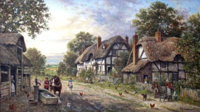 HD Thatched Cottage Village Wallpaper | musings | Pinterest | Wallpaper